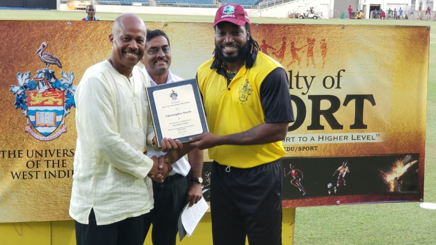 Good to be honoured alongside Patrick Patterson - Chris Gayle