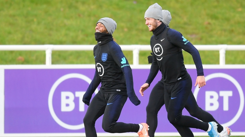 Sterling and Gomez train with England after bust-up