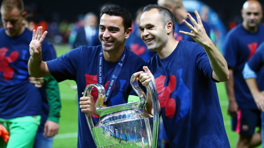 Iniesta: Coaching Barcelona with Xavi doesn't sound too bad!