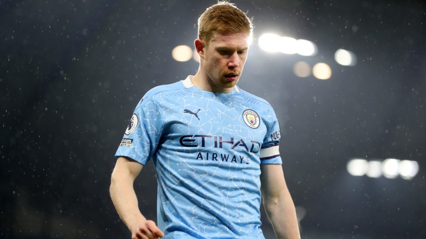 Guardiola fears muscular injury for Man City star De Bruyne