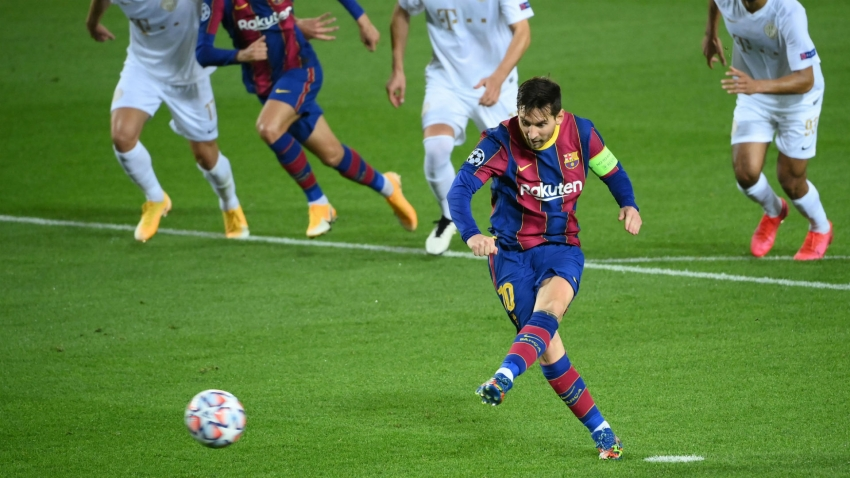 Barcelona 5-1 Ferencvaros: Messi on target as Pique sees red