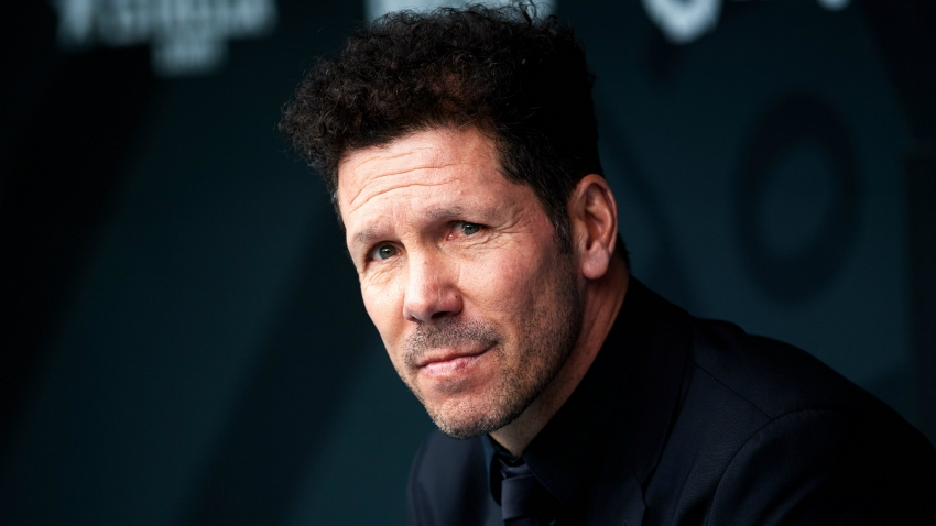 Simeone 'not thinking at all' about Champions League