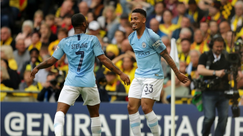 Sterling denied FA Cup final hat-trick as Jesus awarded Man City's second goal