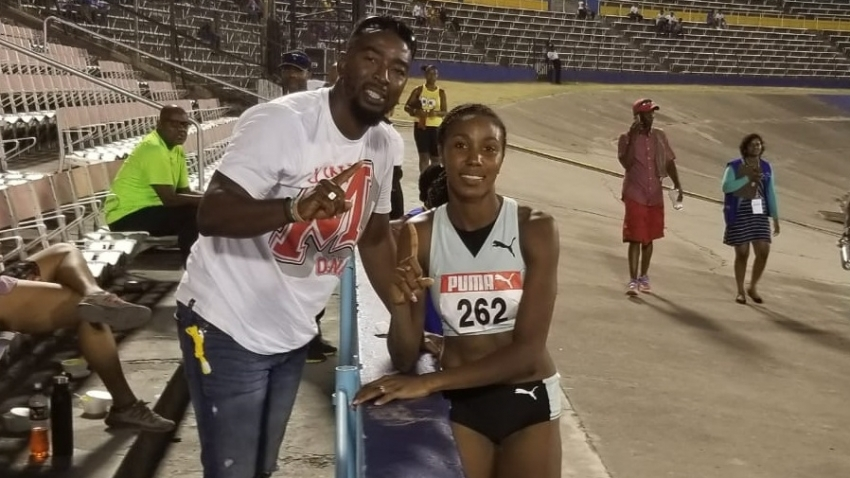 14.73m Shanieka Ricketts just wanted to defend her title