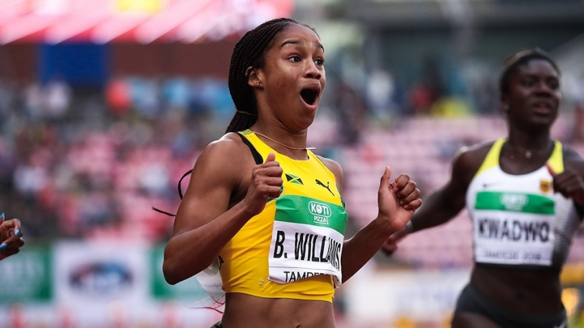 Briana Williams holds off USA pair to win Pan Am U20 100m gold
