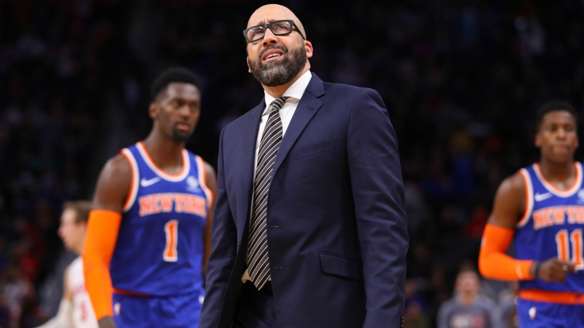 Knicks president backs Fizdale but 'not happy' with start