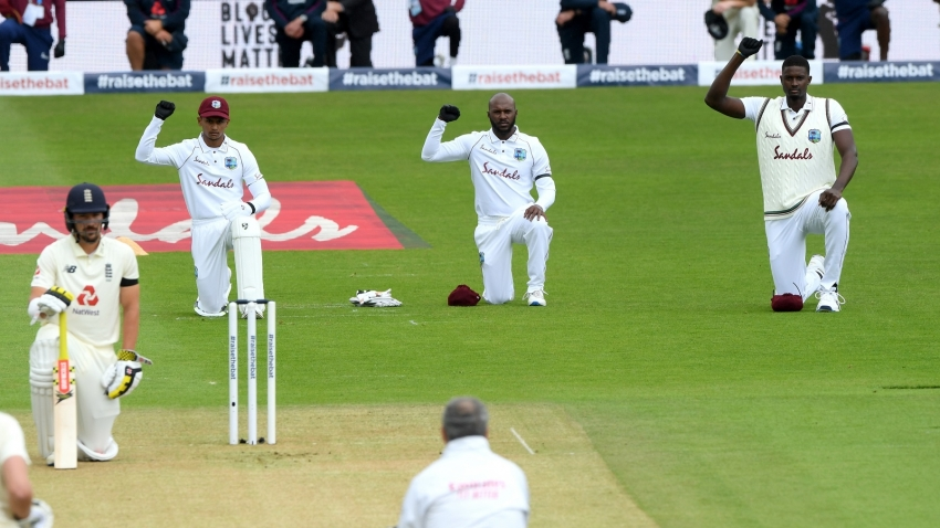 West Indies, England take a knee in solidarity with Black Lives Matter movement
