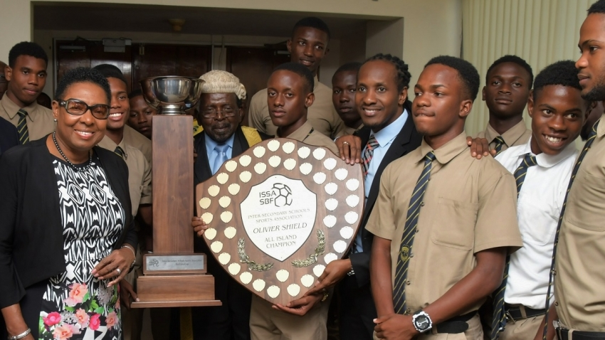 Prime Minister lauds Jamaica's high school football champions