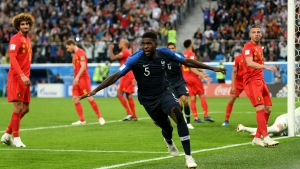 France 1 Belgium 0: Umtiti heads Les Bleus into World Cup final