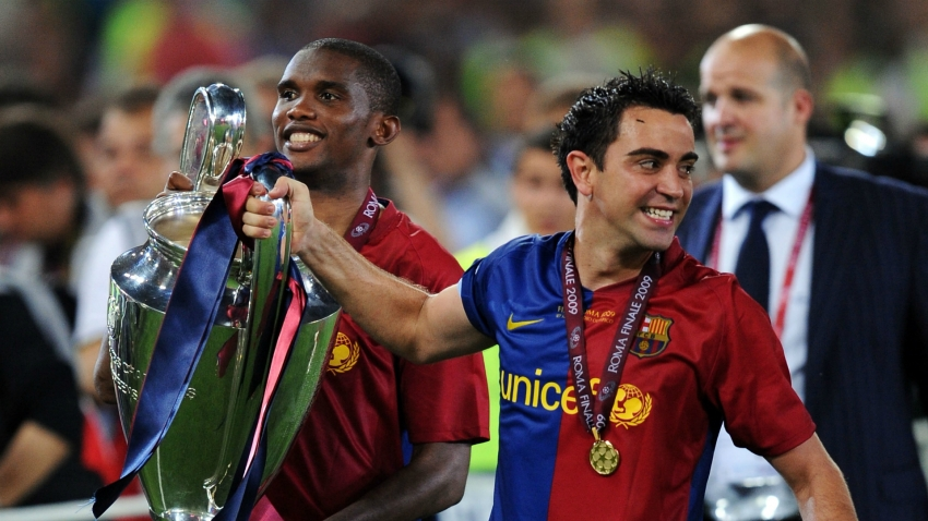 Eto'o: If Xavi doesn't end up coaching Barca, I'll kill him!