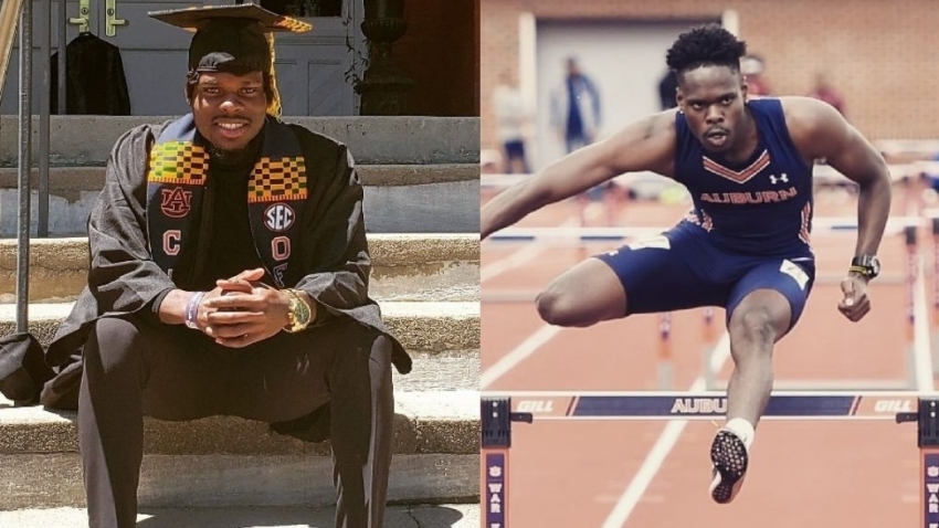 Former KC hurdler Sherwayne Allen the only black graduate in Pure Mathematics at Auburn