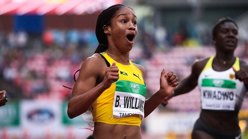 Third gold for Briana Williams as Jamaica sweeps sprint relays