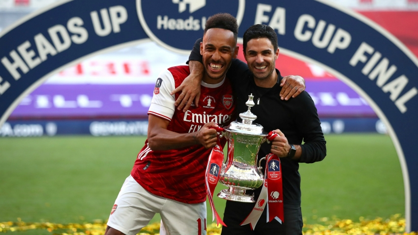 Aubameyang credits Arteta for keeping him at Arsenal