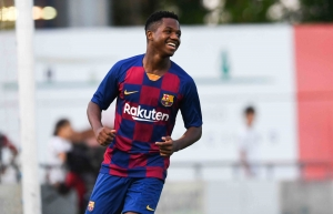 Ansu Fati becomes Barcelona's second youngest player in LaLiga in Betis win