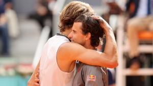 Zverev says Thiem rivalry is just getting started after reaching Madrid Open final