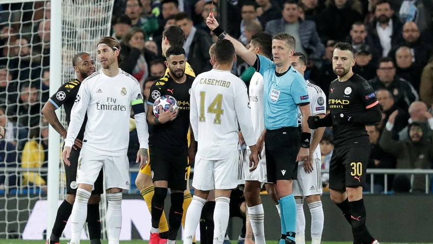 Sergio Ramos equals Champions League record with another red card