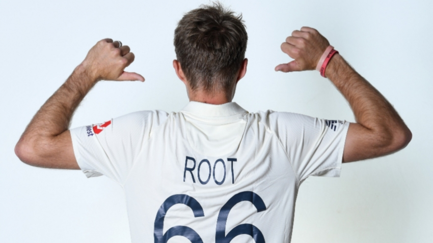 Root shows off name and number on England Test whites