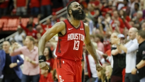 Harden scores 59 as Rockets win 159-158, Curry breaks hand in Warriors loss
