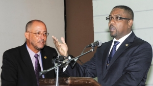 Ricky Skerritt (left) is challenging the CWI presidency of Dave Cameron (right).