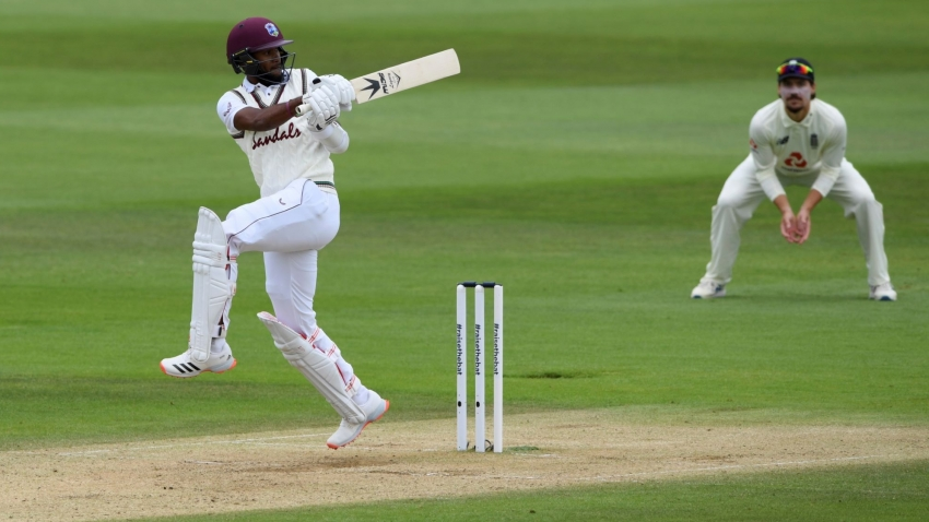 Brathwaite's 65 puts West Indies, 159-3, closer to England's total in 1st Test