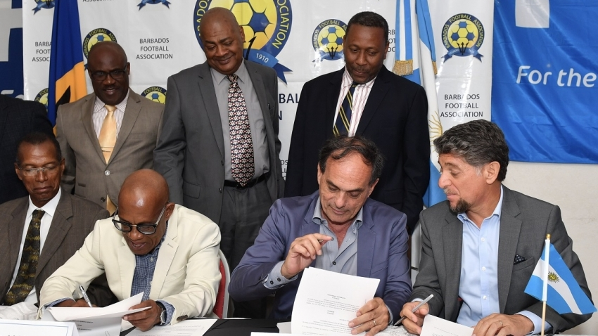 Caribbean Football Union, Barbados, sign far-reaching agreements with Argentina