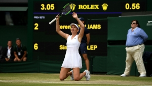 Sensational Halep defeats wilting Williams for maiden Wimbledon crown