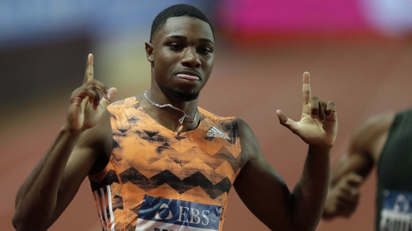 American sprinter Lyles eyes Bolt's 9.58