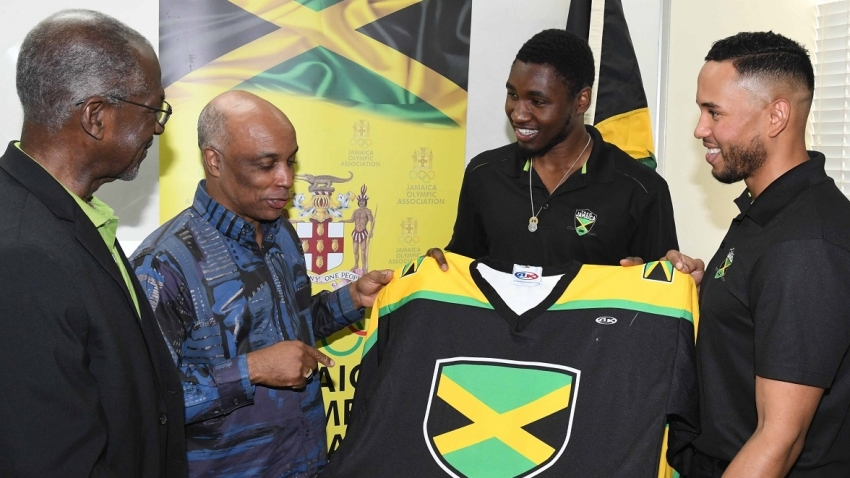 Jamaican ice-hockey team gets welcome support from Olympic association