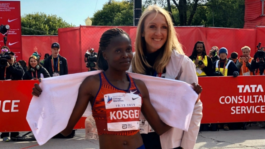 Kosgei smashes Radcliffe's marathon record in Chicago triumph
