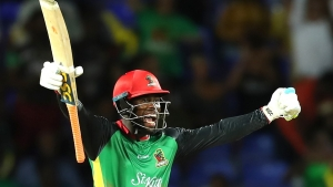 St Kitts and Nevis batsman Fabian Allen.