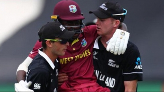 West Indies batsman Kirk McKenzie scored 99 in vain as New Zealand snatched victory at the death to eliminate the 2016 champions