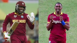 Chris Gayle and Dwayne Bravo.