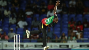 St Kitts and Nevis Patriots Akeem Jordan.