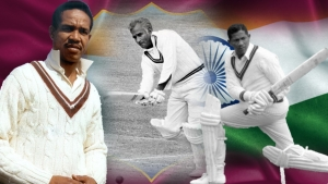 Sir Garfield Sobers, Rohan Kanhai, and Basil Butcher